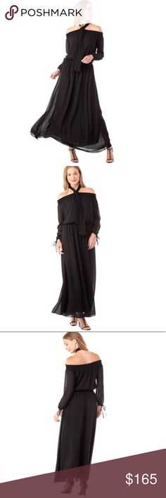 Michael Kors Cold Shoulder Smock Maxi Dress Black Michael Kors * Black * Brand New with Tags * Cold Shoulder Smock Dress * Bringing Long Sleeve and Maxi together for Fall * Woven Polyester * Machine Wash * Stunning with Boots or Heels Michael Kors Dresses Maxi