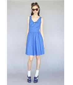 Karen Walker's new collection for Anthropologie. Love the vintage and blue!