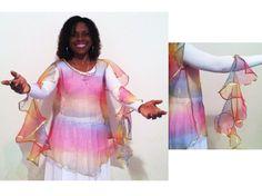 Promise of a New Day Rainbow Cap Sleeve Praise Dance Top [] - $57.00 : 4ever Praise Dance Store, Praise Dancewear