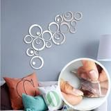 Sweet Circles Self-Adhesive Mirror Wall Sticker - 24 Pieces Total - Next Deal Shop - 1