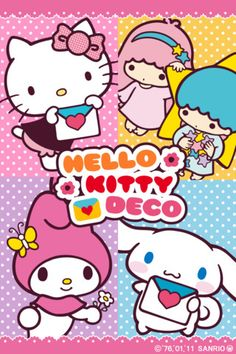 Sanrio Hello Kitty, Little Twin Stars, My Melody & Cinnamoroll