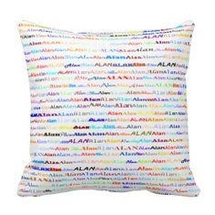 Alan Text Design II Throw Pillow