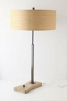 Bronze-Wood Lamp #anthropologie