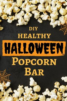 Learn how to make your own Healthy Halloween Popcorn Bar with 10 healthy dietitian approved toppings. Good Healthy Recipes, Healthy Kids, Real Food Recipes, Snack Recipes, Eating Healthy, Healthy Snacks, Clean Eating, Popcorn Recipes, Healthy Cooking