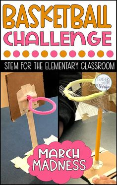 The most fun challenge ever in the STEM lab! This challenge is perfect for fall sports but don& forget March Madness! Your students will love competing in this Basketball STEM Challenge! Steam Activities, Science Activities, Activities For Kids, Space Activities, Science Experiments, Stem For Kids, Stem Projects For Kids, Fun Projects, Phone Wallpapers
