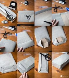 Folding DIY gift bags and beautiful Christmas rituals - DIY Geschenke 2019 Diy Paper Bag, Paper Gift Bags, Paper Gifts, Diy Gift Box, Diy Box, Diy Gifts, Gift Wraping, Newspaper Crafts, Father's Day Diy