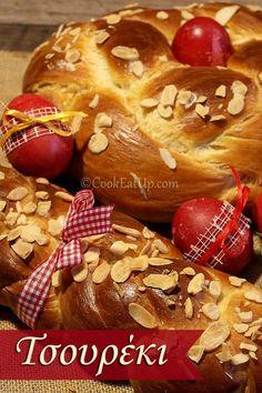 Easter Bread from Greece Greek Sweets, Greek Desserts, Greek Recipes, Desert Recipes, Greek Cake, Eat Greek, Pastry Recipes, Sweets Recipes, Greek Pastries