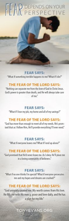 Fear depends on your perspective. Are YOU looking it from the right vantage point? http://tonyevans.org
