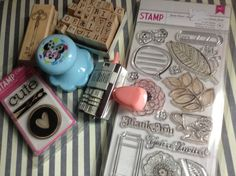 MATERIAL Sellos/Clear Stamps **Scrapbook**