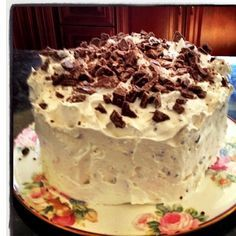 "Hershey bar cake...at our house it's called ""PaPa's Cake"".   :)"