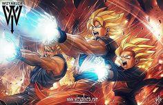 Realistic digital art of Goku, Gohan, and Goten
