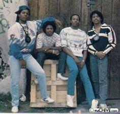 N.W.A. back in times : Ice Cube, Dr Dre, Eazy E & MC Ren
