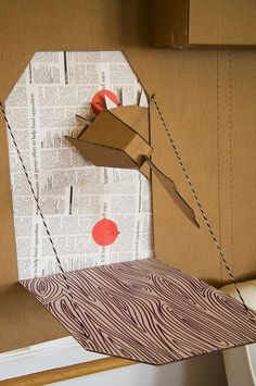 Cardboard dragon and drawbridge! This is cute! We could totally do this dragon head @Megan Mullins