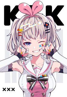 Kaguya Luna x Kizuna Ai Lolis Anime, Fanarts Anime, Anime Life, Anime Characters, Kawaii Anime Girl, Anime Art Girl, Anime Girls, Character Art, Character Design