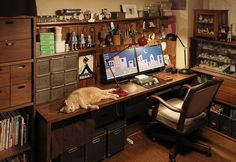Leading 30 Stunning Home Office Style Home Office Setup, Home Office Design, Home Office Furniture, Office Decor, House Design, Office Style, Office Ideas, Rustic Office, Grey Interior Doors