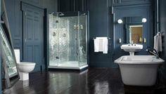 agencement-salle-de-bains-la-salle-de-bain-moderne-vitrage-douche-bleu-foncé