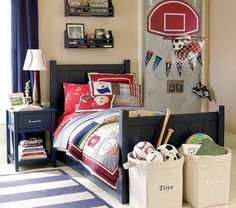 Cool Sport Themed Boys Bedroom Design with Sport Items – Sport Themed Boys Bedroom Design Ideas