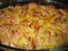 Kartoffel-Blumenkohlauflauf mit Fleischwurst