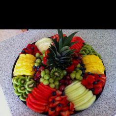 nice fruit tray arrangement