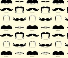 You never know when you might need some mustache fabric in your life.