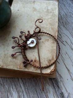 Tree of life  Wire Wrapped copper brooch  Shawl Pin by Lirimaer, $28.00