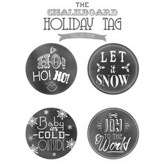 Holiday Chalkboard Tags