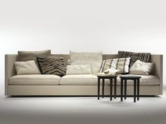 3 seater upholstered fabric sofa with removable cover Oltre Collection by FLEXFORM | design Antonio Citterio