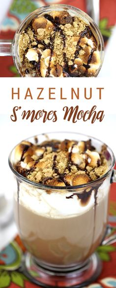 Mmm. S'mores in a cup with hazelnut. THE perfect fall beverage! #AD