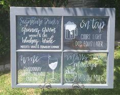 Antique Window Menu Chalkboard Diy Wedding Kayla Tyler 39 S Wedding 2013 Pinterest Antique