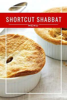 This Shabbat menu just looks fancy! Everything here is fast and easy to make.
