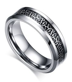 82b1e1f79d87 Mealguet Jewelry His and Hers Tungsten Carbide Carbon Fiber Inlay Wedding Ring  Set for Women