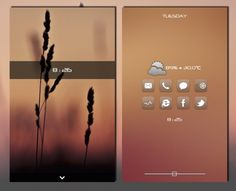 Minimal Android Home & Lock screen layout using Fancy Widgets App by desylvia