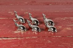 Set of Six French Vintage Knife Rests in the by BillsBitsAndBobs