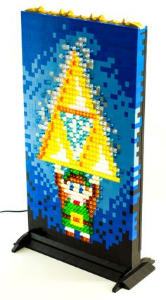 I MUST make this.  Illuminated Mosaic LEGO Sprite Portraits #diy #legendofzelda