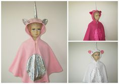 einhorn karneval fasching halloween kostüm cape umhang für kleinkinder fleece