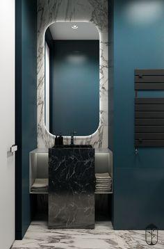 9 luxury bathroom design and decor ideas 8 Washroom Design, Bathroom Design Luxury, Modern Bathroom Design, Modern Interior Design, Bad Inspiration, Bathroom Inspiration, Small Toilet Design, Bathroom Toilets, House Design