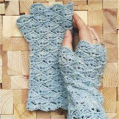 You can work up amazing new awesome fingerless gloves. Perfect design.