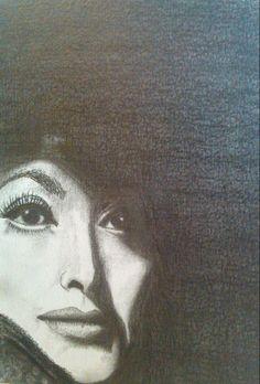 Joan Crawford, atriz dos anos 20, em grafite!
