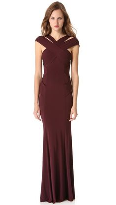 Rendered in a rich sweep of slinky jersey, this floor-length Donna Karan New York gown is seductively elegant. The bodice is detailed with crisscross accents along the sides, yielding a flattering fit through the hips, and diagonal straps lend an ultra-modern, sculptural finish. Hidden back zip. Lined. Copy and paste this link in your browser http://shopbop.lgldr.net/ba4 and you will find a wonderland in the field of fashion industry.