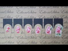 Lesson - One Stroke Nail Stickers for beginners One Stroke Painting, Tole Painting, Airbrush Nails, One Stroke Nails, Gel Designs, Flower Nail Art, Nail Decorations, Nail Tutorials, Nail Stickers