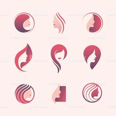 beauty-salon-logo-set-hair-face-skin-care-product-cosmetics-makeup-spa-center-be… - Modern Skin Logo, Logo Face, Beauty Salon Logo, Beauty Salon Design, Graphisches Design, Logo Design, Schönheitssalon Logo, Icon Set, Logo Sketch