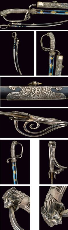 A silver mounted luxury sabre: provenance: South America dating: second quarter of the 19th Century