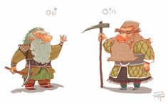 juanbjuan children illustration: Ori and Oin (The Hobbit)