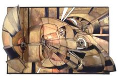 Lee Bontecou  Untitled  1966    Welded steel, canvas, epoxy, leather, wire, and light. 78 1/2 x 119 x 31 in. (199.4 x 302.3 x 78.7 cm). Museum of Contemporary Art, Chicago, Gift of Robert B. Mayer Family Collection, 1991.85.