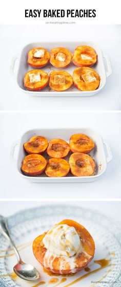 Baked Peaches by ihe