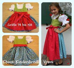 Kinderdirndl Vroni Ebook mit Bluse SOFORTDOWNLOAD von mondbresal auf DaWanda.com