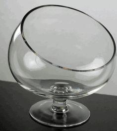 """Pedestal Bias Bowl 9"""" Glass"""