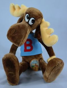"NWT - Mighty Star Brand 1985 24"" Bullwinkle Moose Posable Plush Stuffed Animal #MightyStar"