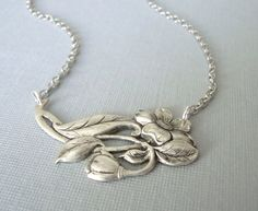 Blooming Flower Pendant Necklace  everyday by lucindascharms, $14.00