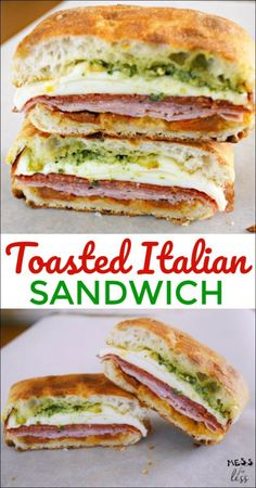 Toasted Italian Sandwich takes just minutes to make but is bursting with Italian flavor. Such an easy sandwich recipe!This Toasted Italian Sandwich takes just minutes to make but is bursting with Italian flavor. Such an easy sandwich recipe! Healthy Sandwiches, Sandwiches For Lunch, Soup And Sandwich, Wrap Sandwiches, Panini Sandwiches, Italian Sandwiches, Gourmet Sandwiches, Delicious Sandwiches, Roast Beef Sandwich
